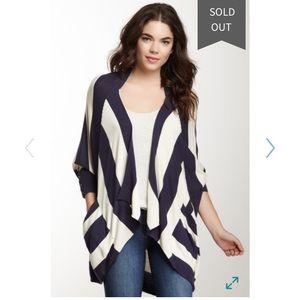SPLENDID Navy/Ivory Stripe Knit Cardigan M/L
